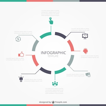 Круглый инфографики шаблон