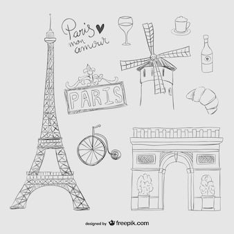 Париж каракули