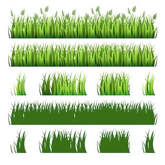 緑の芝生のパック