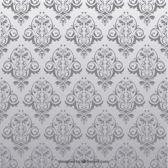花とアンティークのシームレスなパターン