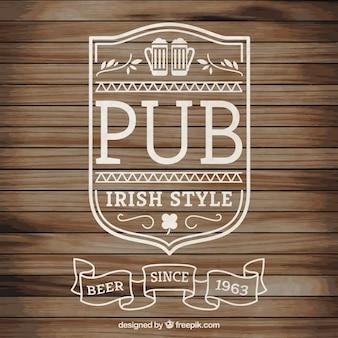 Ирландский паб логотип