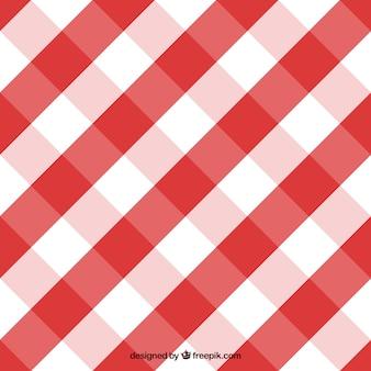 赤と白のギンガムパターン