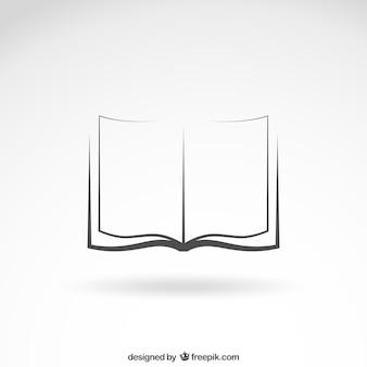 開いた本のアイコン