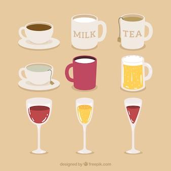パックカップ、マグやグラス