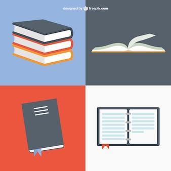 Книги в разных позициях