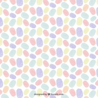 カラフルな指紋パターン