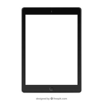 Черный планшет макет