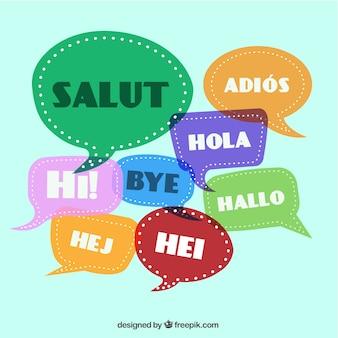 異なる言語でのご挨拶