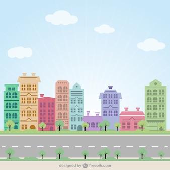 カラフルな街路