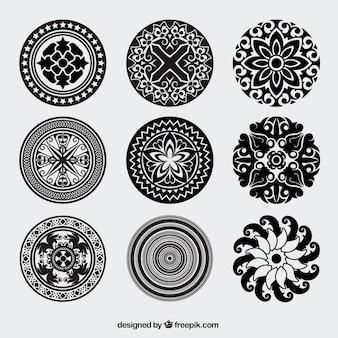 ヴィンテージ丸みを帯びた装飾ベクトルパック