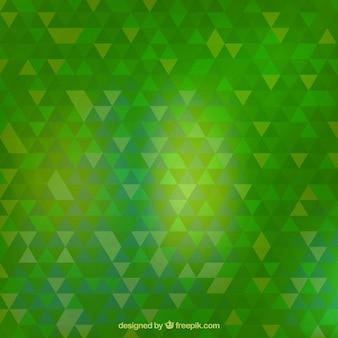 Зеленый фон треугольники