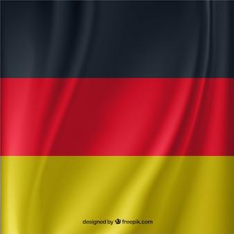 ドイツの旗を振って