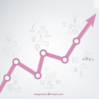 図面と成長グラフ
