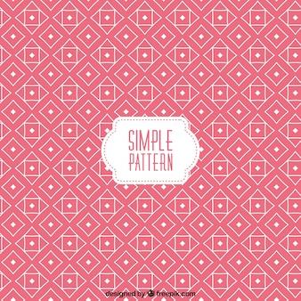 Розовый узор в геометрической конструкции