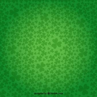緑の色のシャムロックの背景