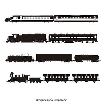 Поезда силуэт коллекции