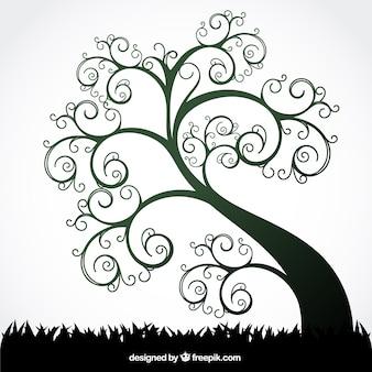 Дерево летом вихревой