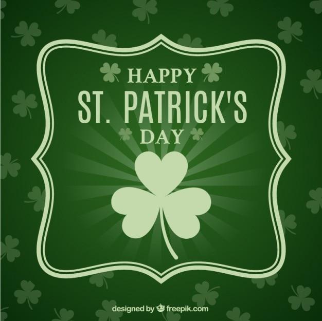 緑のトーンの聖パトリックの日カード