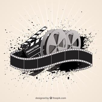 Кино фильм фон в абстрактном стиле