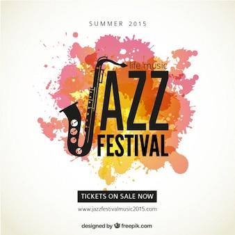 ジャズフェスティバルのポスター