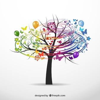 カラフルなツリー