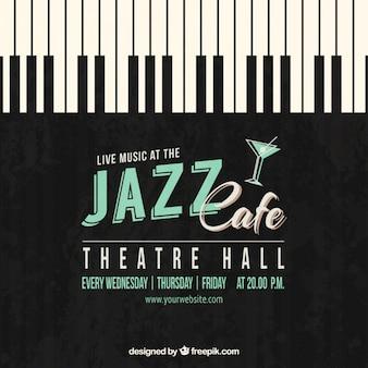 ジャズカフェのポスター