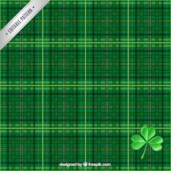 緑の色調でチェックパターン