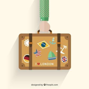 休日のスーツケース