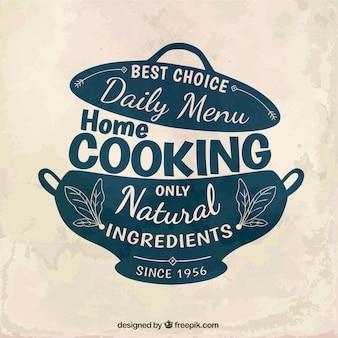 家庭料理のバッジ