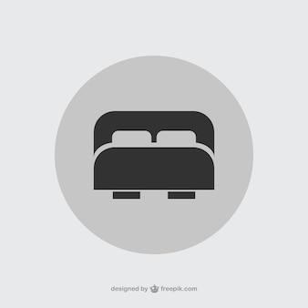 Двухместный значок кровать