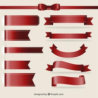 Коллекция красные ленты
