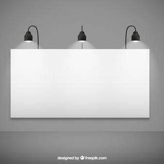 空白の看板モックアップ