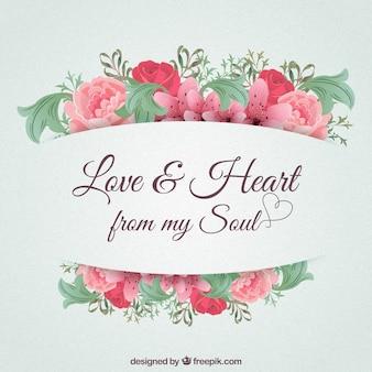 私の魂からの愛と心