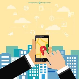 携帯電話のナビゲーションアプリ