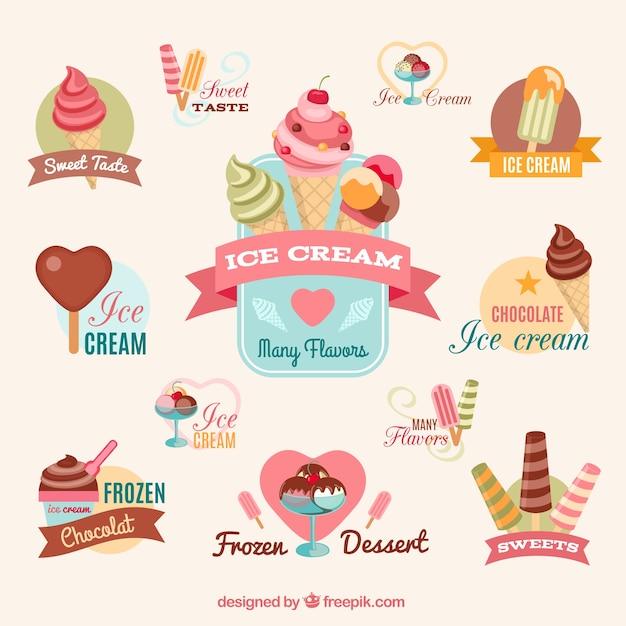 Красочные мороженое