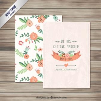 Цветочные приглашение на свадьбу
