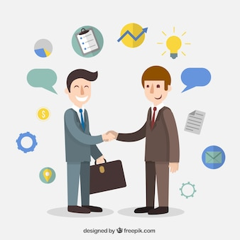 ビジネスマンの契約の漫画
