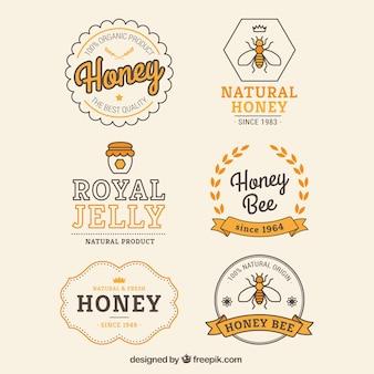 レトロな蜂蜜バッジ