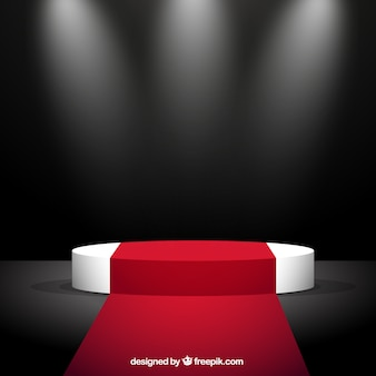 レッドカーペットと舞台