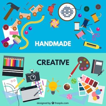 手作りと創造的なワークショップ