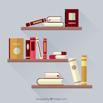 Книги на книжных полках