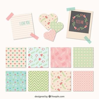 かわいいパターンを持つノート