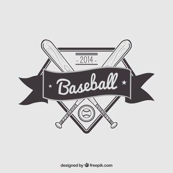 Ретро значок бейсбол
