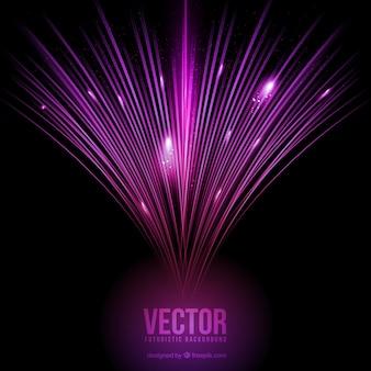 Фиолетовый оптический фон волокна