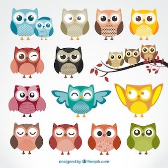 Симпатичные совы мультфильм