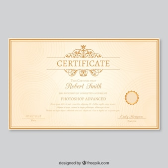 Шаблон элегантный сертификат