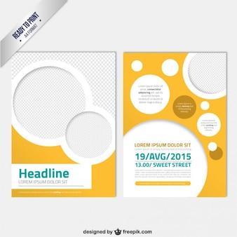Современный шаблон брошюры с кругами