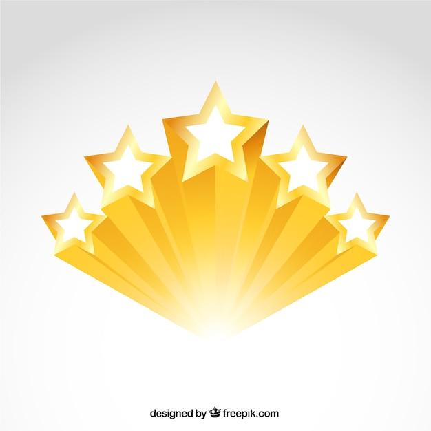 Блестящие золотые звезды