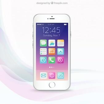 カラフルな携帯電話の画面