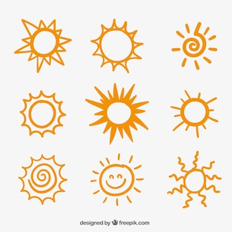 スケッチの太陽